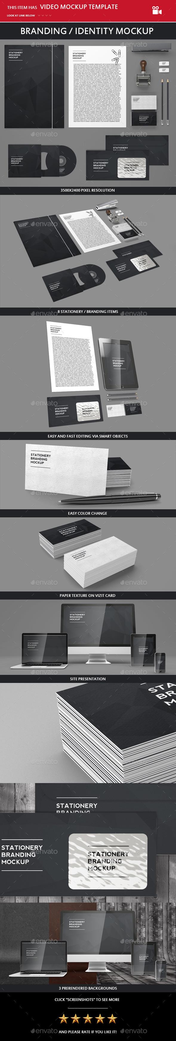 Branding / Identity Mock-up - Miscellaneous Print