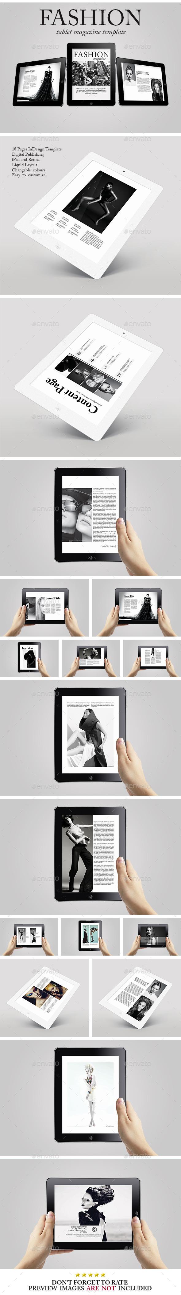 Tablet Fashion Magazine Template - Digital Magazines ePublishing