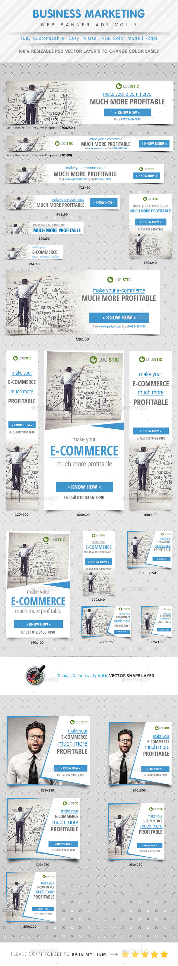 Marketing Web Banner Ads Vol.3 - Banners & Ads Web Elements