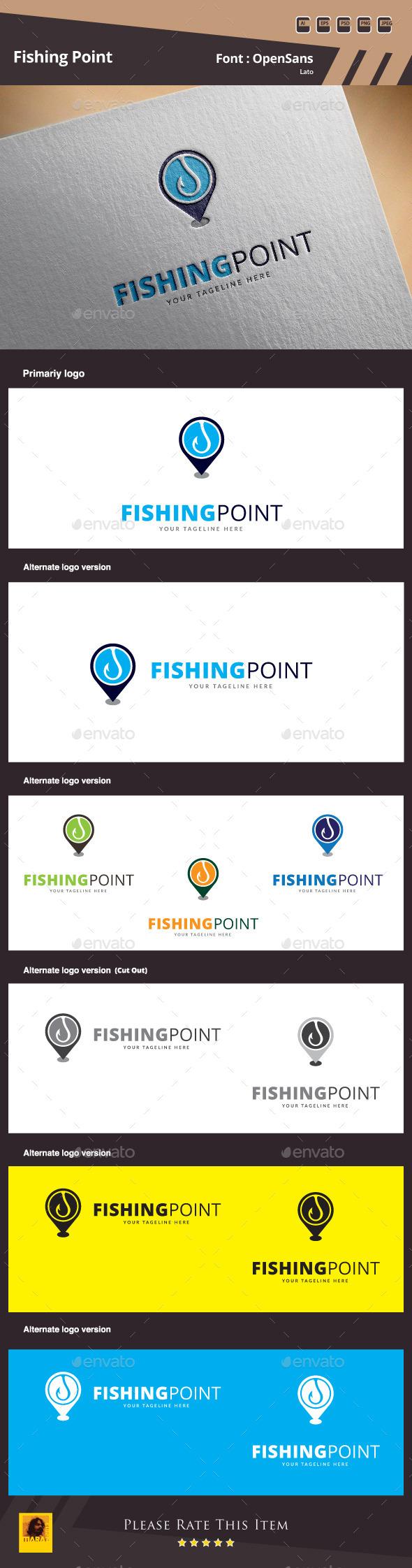 Fishing Point Logo Template - Symbols Logo Templates