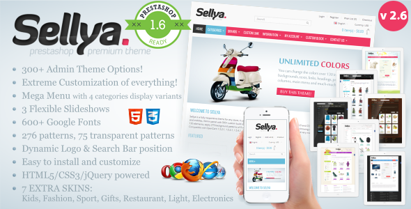 Sellya – Responsive Prestashop Theme