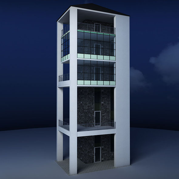 Glass tower - 3DOcean Item for Sale