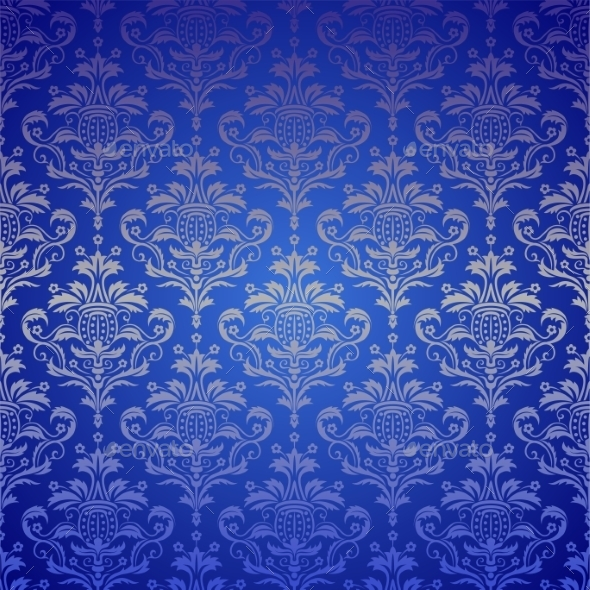 Luxury Seamless Golden Floral Wallpaper  - Patterns Decorative