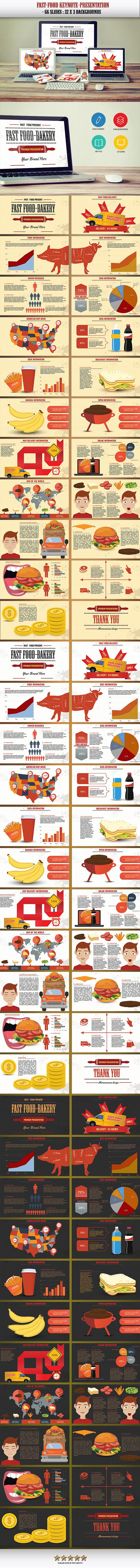 Fast Food Keynote Presentation - Keynote Templates Presentation Templates