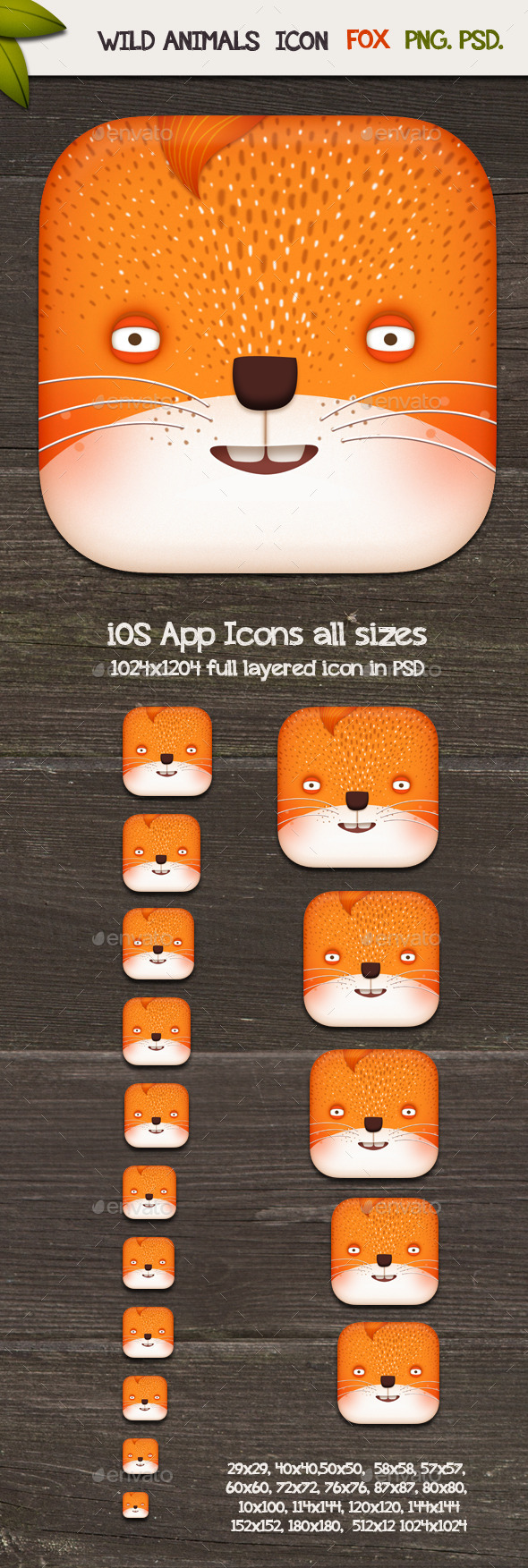 Fox - App Icons - Animals Characters