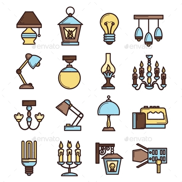 Light Icon Set - Objects Icons