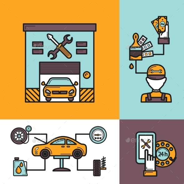 Auto Service Concept - Technology Conceptual