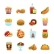 Fast Food Icon Set - GraphicRiver Item for Sale