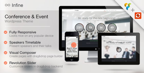 Infine – OnePage Conference & Event WP Theme