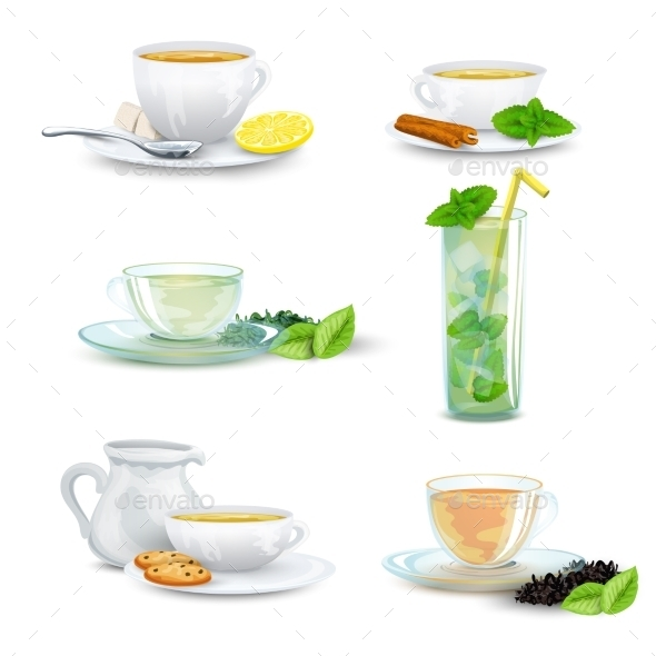 Tea Icon Set - Food Objects