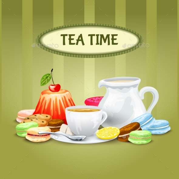 Tea Time Poster - Food Objects