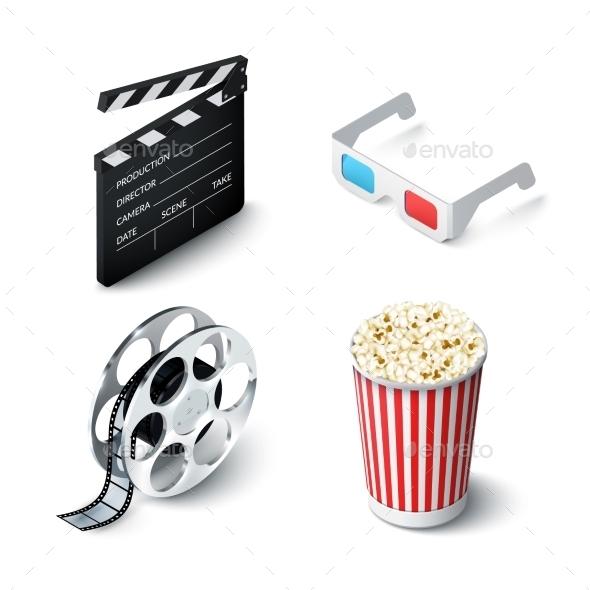 Cinema Realistic Set - Objects Vectors
