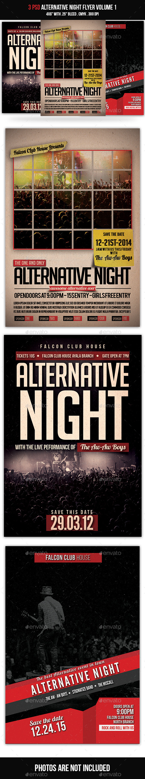 Alternative Night Bundle Volume 1 - Events Flyers