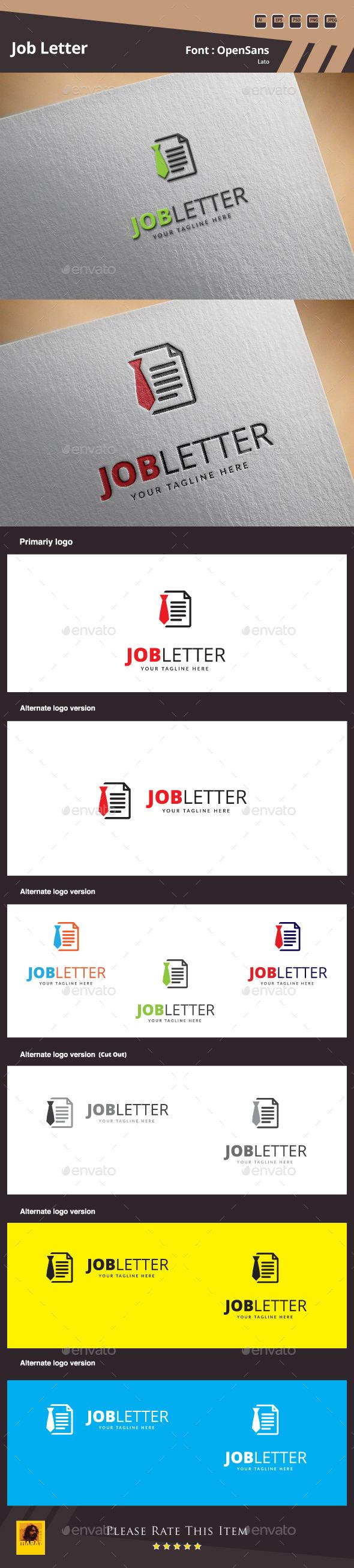 Job Letter Logo Template - Symbols Logo Templates