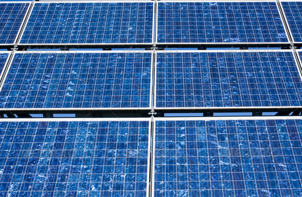 Solar panel close-up - Stock Photo - Images