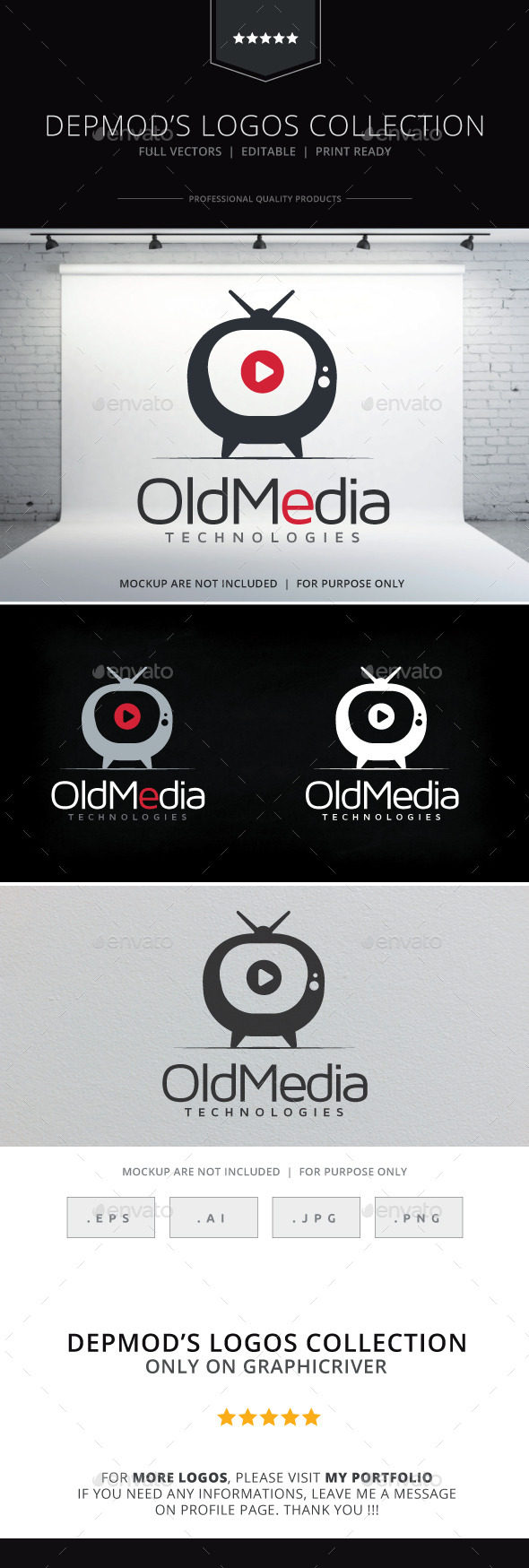Old Media Logo - Objects Logo Templates