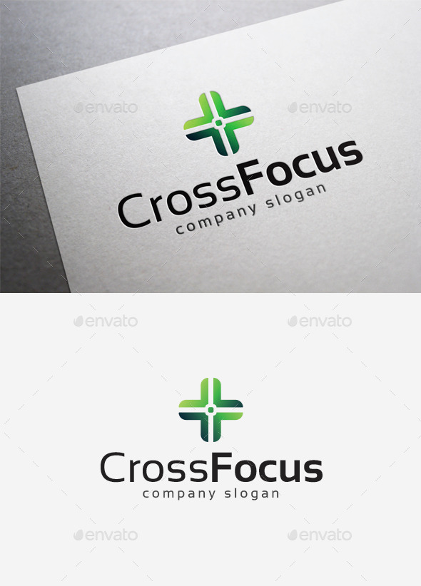 Cross Focus Logo - Symbols Logo Templates