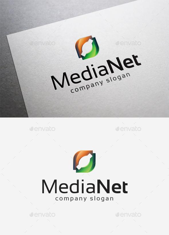 Media Net Logo - Abstract Logo Templates