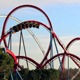 Huge Roller Coasters at an Amusement Park 04 - VideoHive Item for Sale