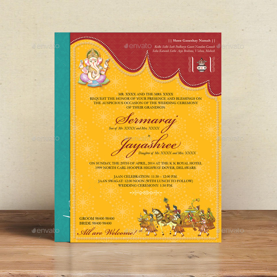 hindu wedding card by graphixshiv graphicriver