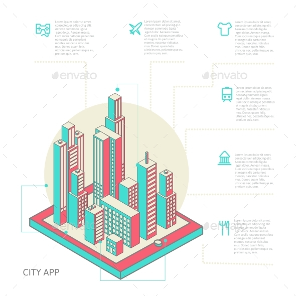 Infographic Buildings - Technology Conceptual