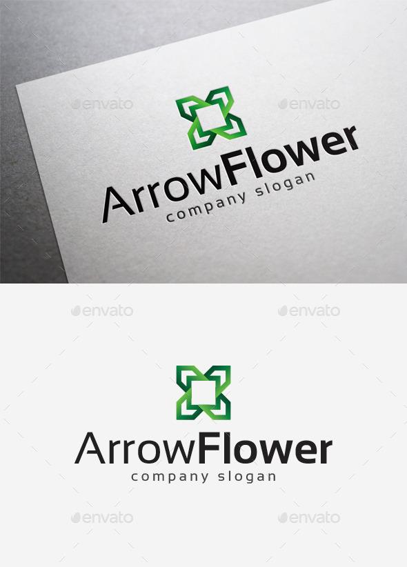Arrow Flower Logo - Abstract Logo Templates