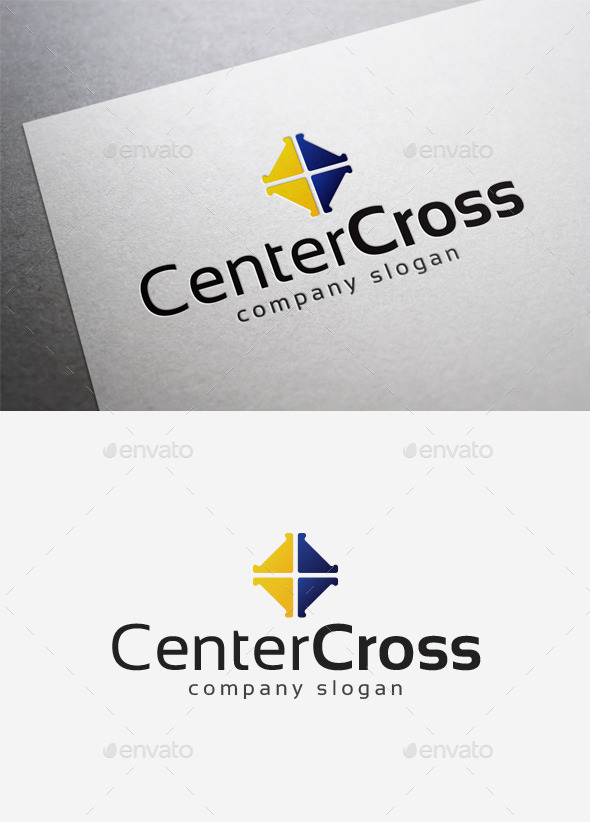 Center Cross Logo - Abstract Logo Templates