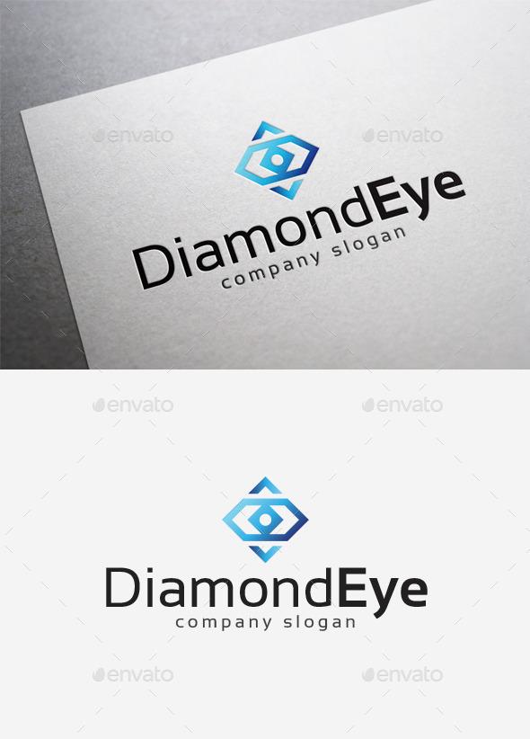 Diamond Eye Logo - Abstract Logo Templates