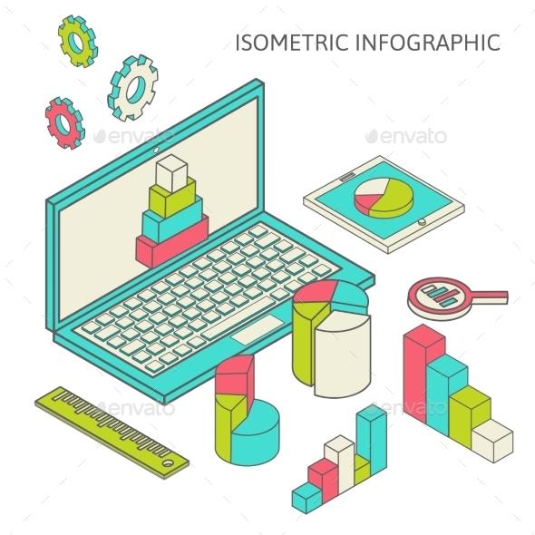 Isometric Business Finance - Decorative Vectors