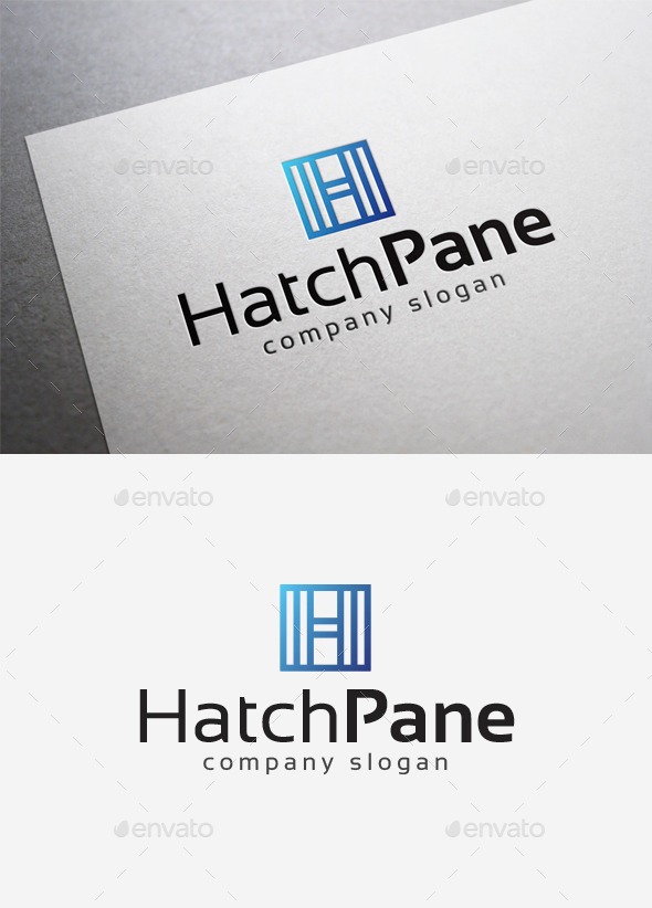 Hatch Pane Logo - Letters Logo Templates