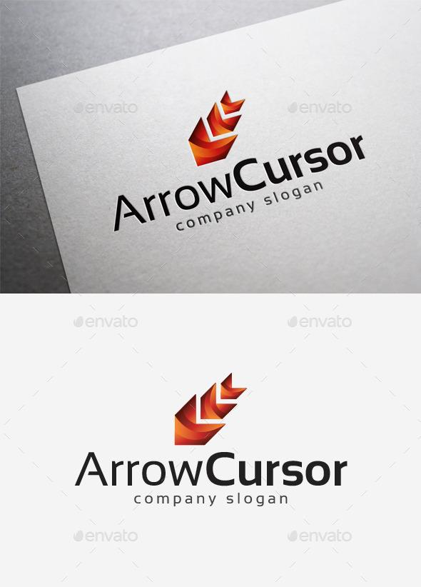 Arrow Cursor Logo - Abstract Logo Templates