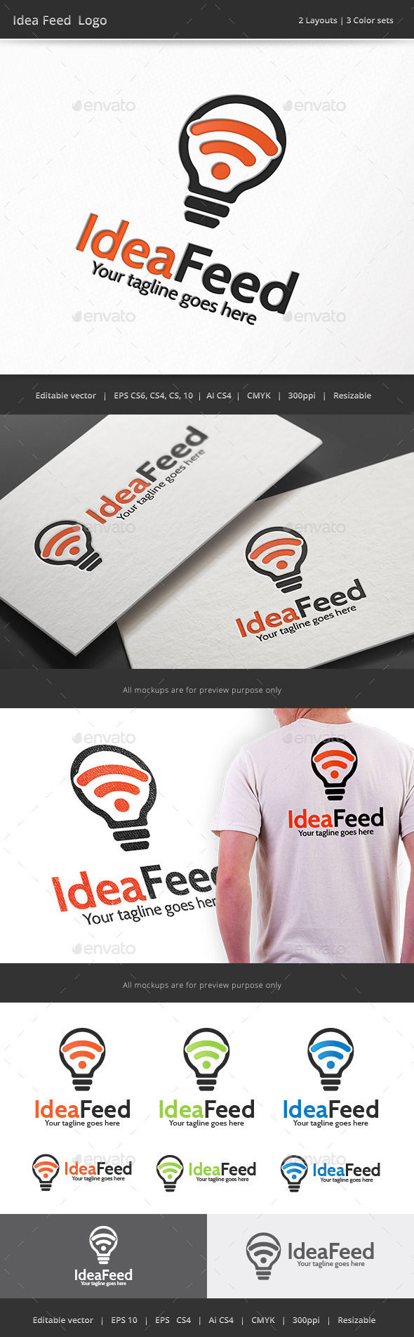 Idea Feed Logo - Vector Abstract