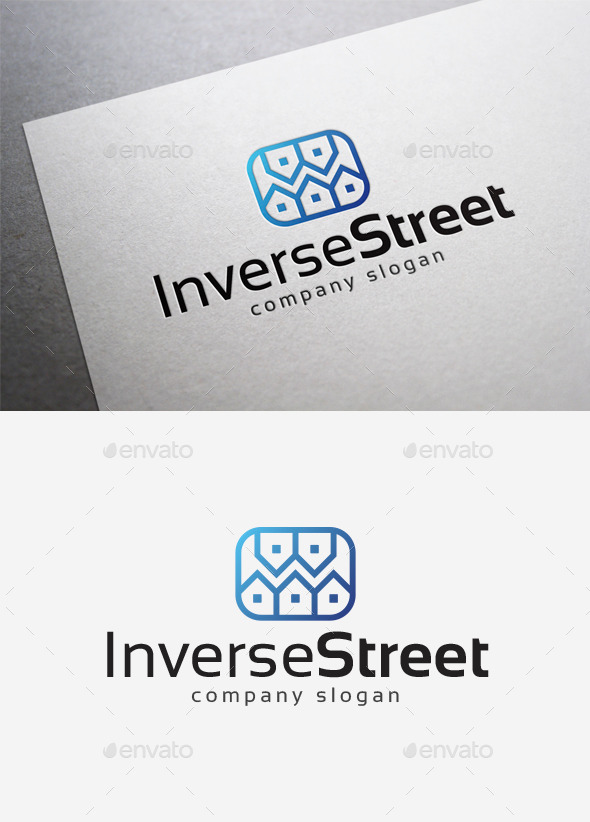 Inverse Street Logo - Buildings Logo Templates