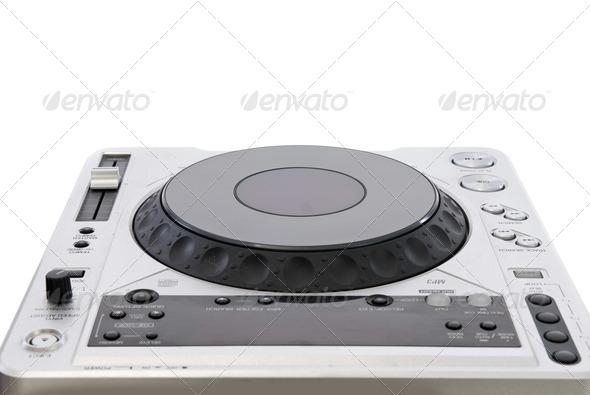 dj mixer isolated on white - Stock Photo - Images