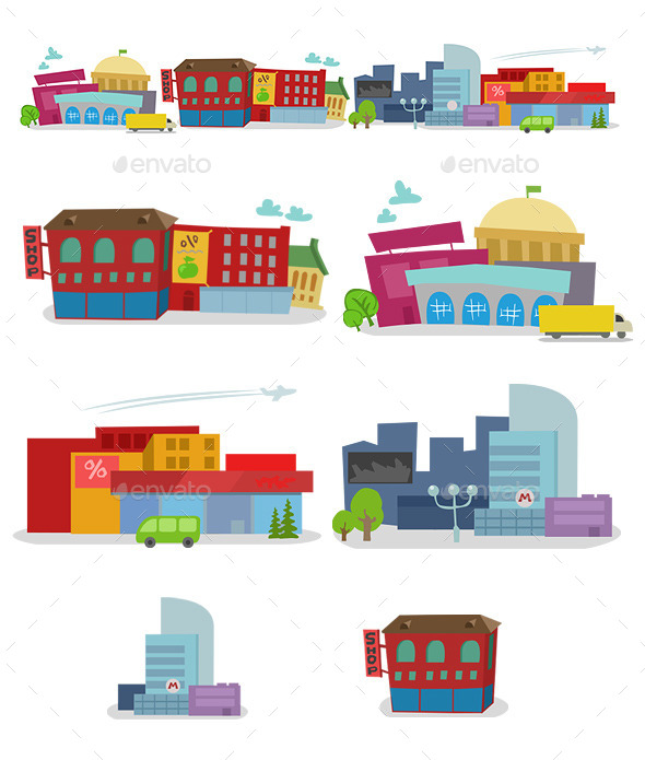 City Houses - Buildings Objects