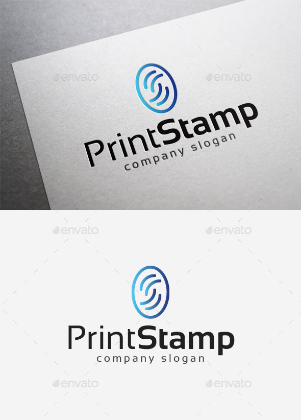 Print Stamp Logo - Abstract Logo Templates