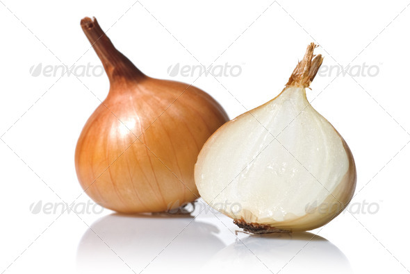 onion isolated on white - Stock Photo - Images