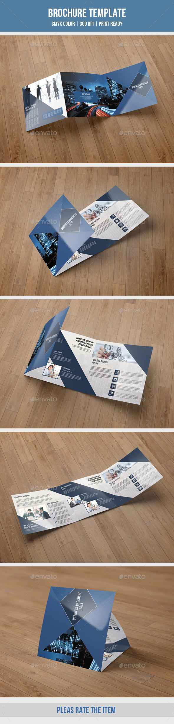 Corporate Square Trifold Brochure-V59 - Corporate Brochures