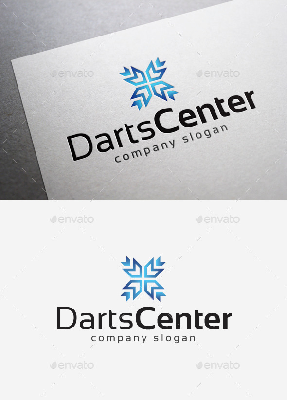 Darts Center Logo - Abstract Logo Templates