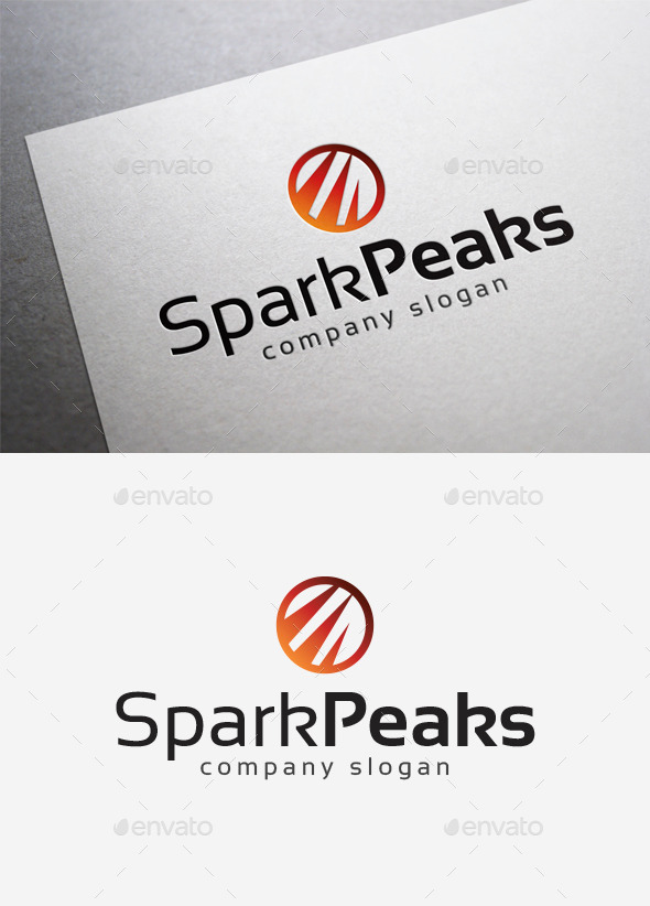 Spark Peaks Logo - Abstract Logo Templates