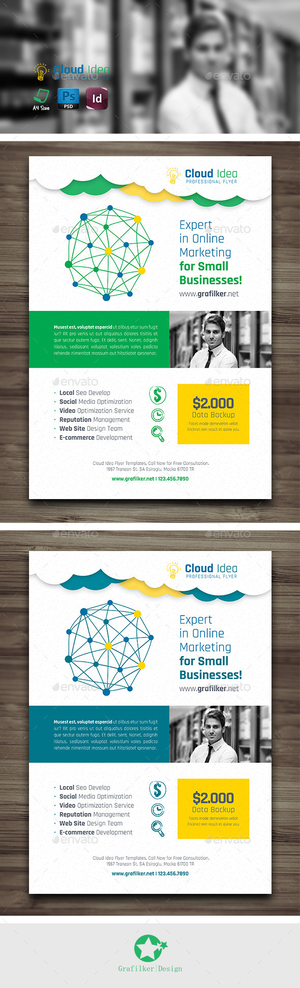 Cloud Idea Flyer Templates - Corporate Flyers