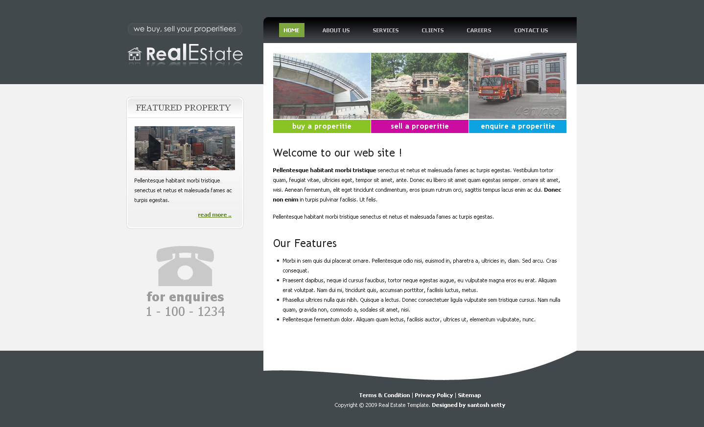 Real estate clean elegant template by settysantu for Facebook welcome page templates