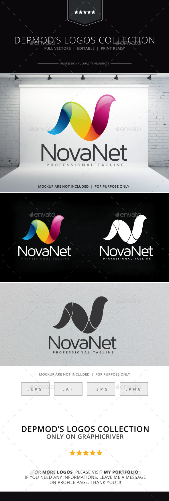 Nova Net Logo - Letters Logo Templates