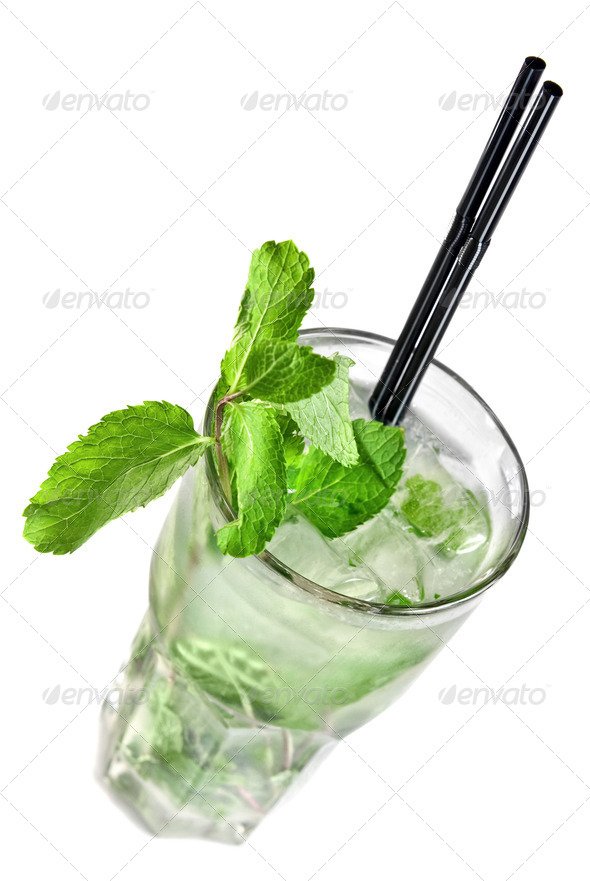 Mohito isolated on white - Stock Photo - Images