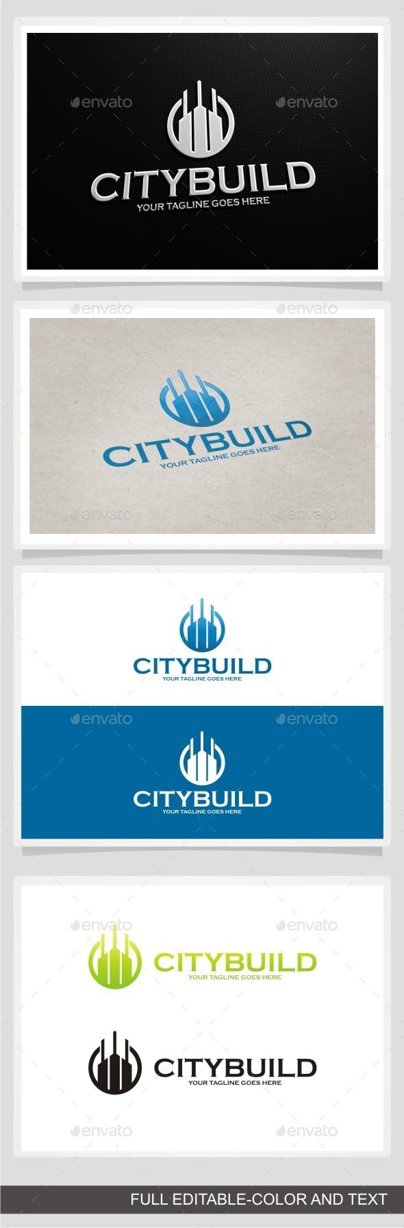 City Build - Buildings Logo Templates