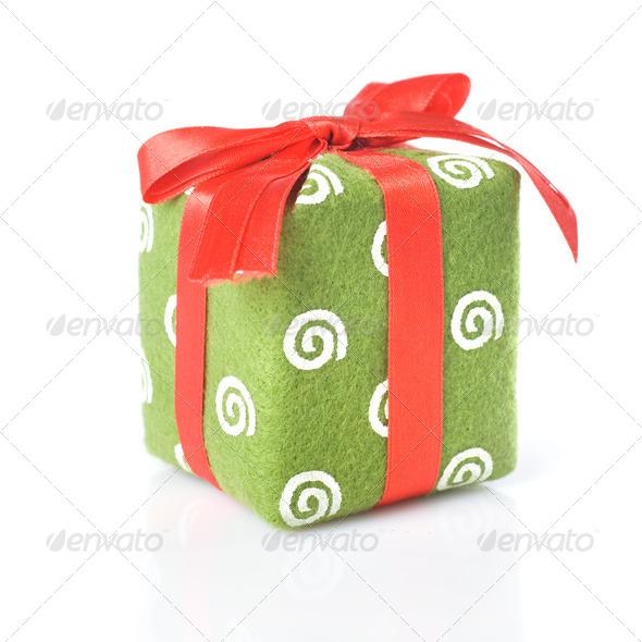 Gift isolated on white - Stock Photo - Images