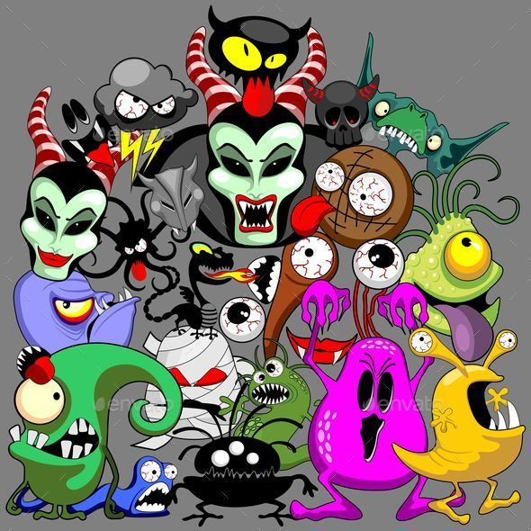 Doodles Monsters Characters Saga - Monsters Characters