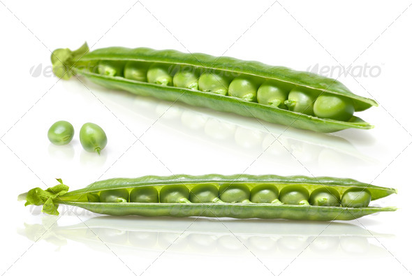peas isolated on white - Stock Photo - Images