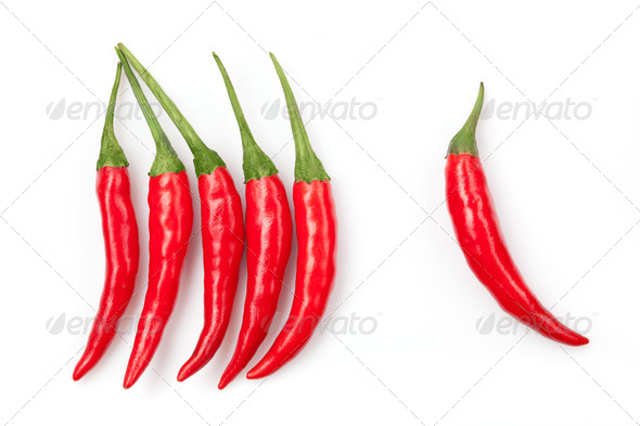 chili pepper isolated on white - Stock Photo - Images