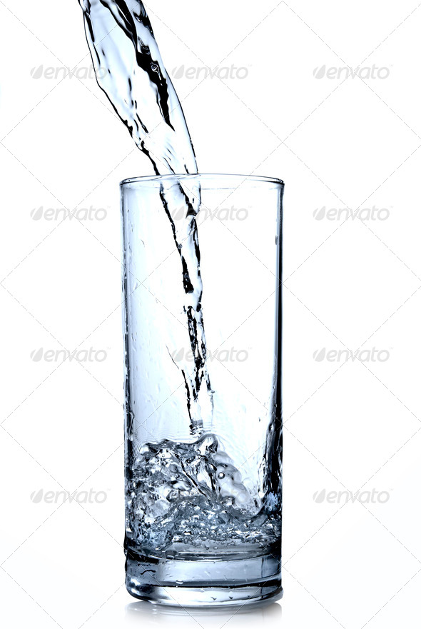 water in glass - Stock Photo - Images